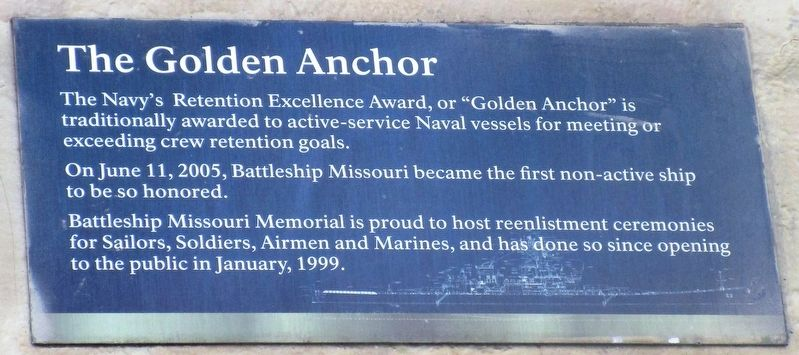The Golden Anchor Marker image. Click for full size.