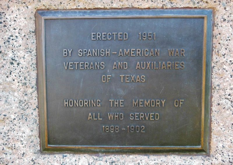 Spanish - American War Memorial Marker image. Click for full size.