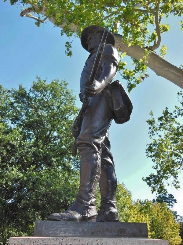 "Spanish - American War Memorial <i>""The Hiker""</i> image. Click for full size."