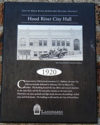 Hood River City Hall Marker image. Click for full size.