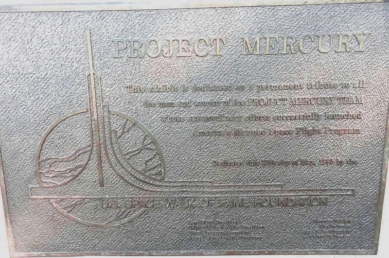 Project Mercury Memorial Marker image. Click for full size.