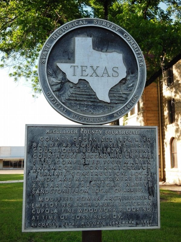 McCulloch County Courthouse Marker image. Click for full size.