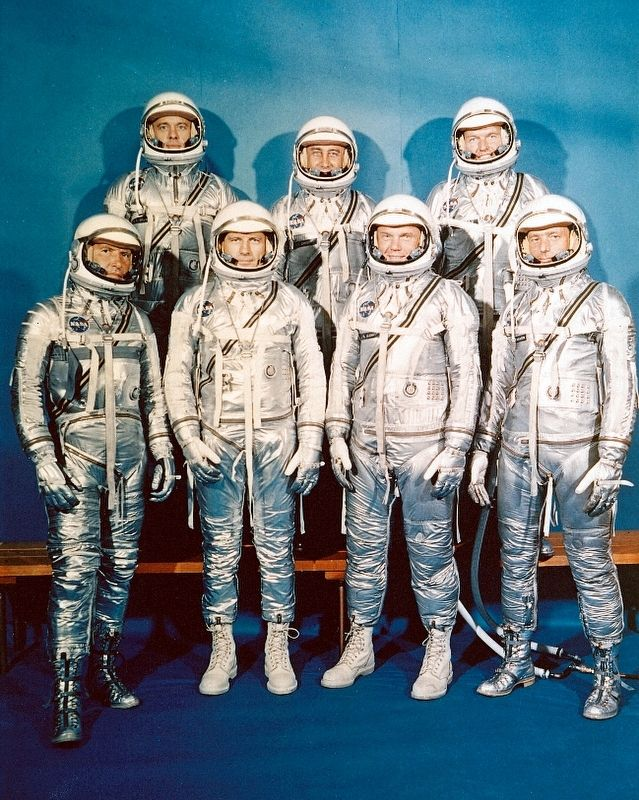 Original Mercury 7 Astronauts image. Click for full size.