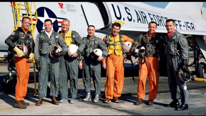 Mercury 7 Astronauts image. Click for full size.