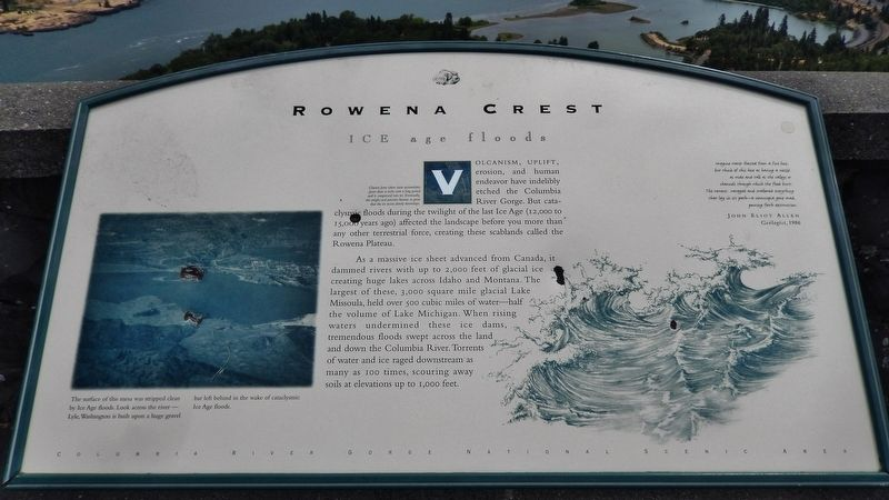 Rowena Crest Marker image. Click for full size.