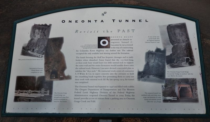 Oneonta Tunnel Marker image. Click for full size.
