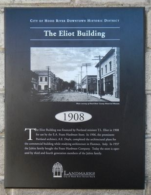 The Eliot Building Marker image. Click for full size.