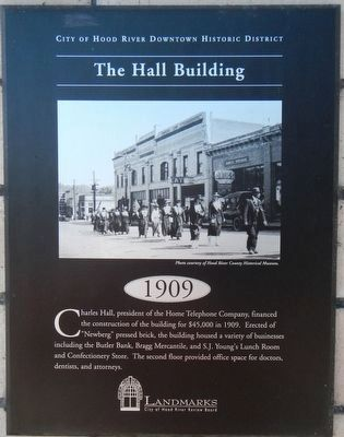 The Hall Building Marker image. Click for full size.