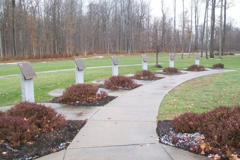 10th Mountain Division Heroes Walk Memorial Markers 2003-2008 image. Click for full size.