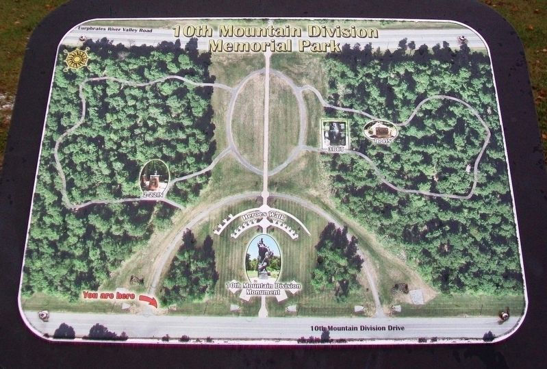 10th Mountain Division Memorial Park Map image. Click for full size.