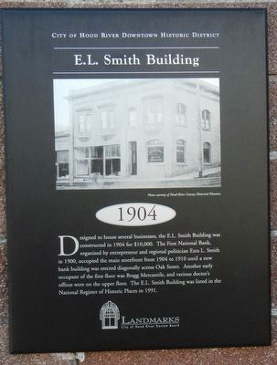 E.L. Smith Building Marker image. Click for full size.