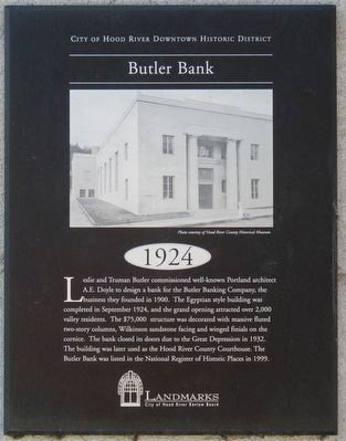 Butler Bank Marker image. Click for full size.