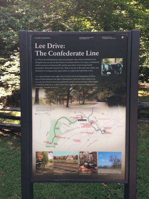 Lee Drive: The Confederate Line Marker image. Click for full size.