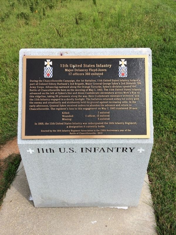 11th United States Infantry Marker image. Click for full size.