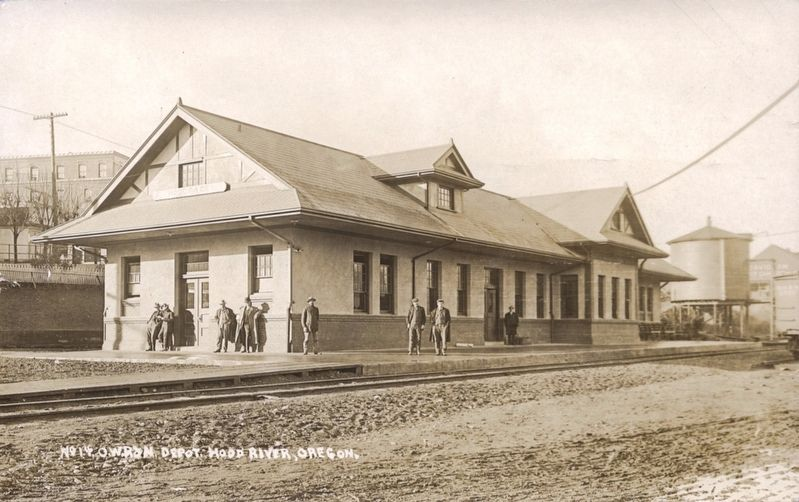 OWR & N Company Railroad Depot image. Click for full size.