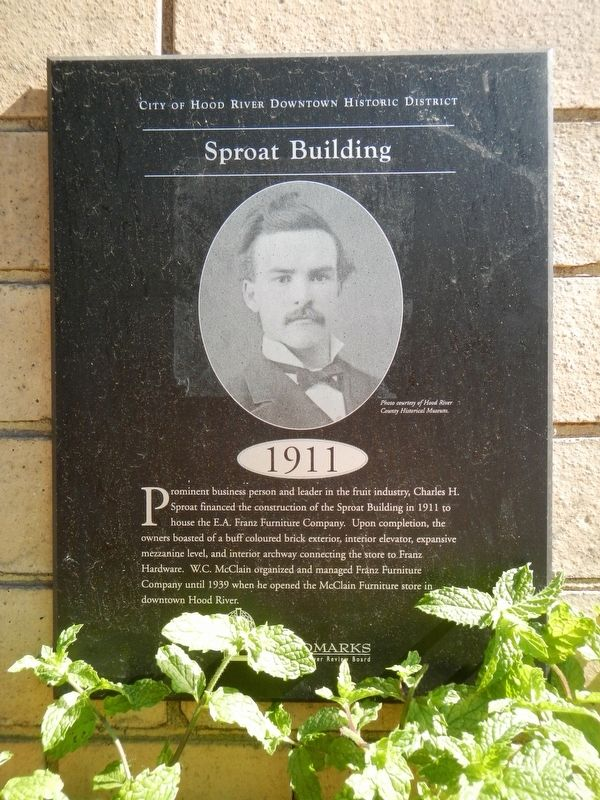 Sproat Building Marker image. Click for full size.