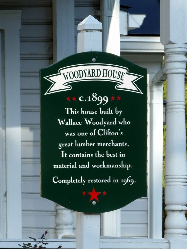 Woodyard House Marker image. Click for full size.