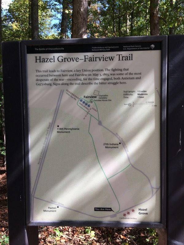 Hazel Grove - Fairview Trail Marker image. Click for full size.