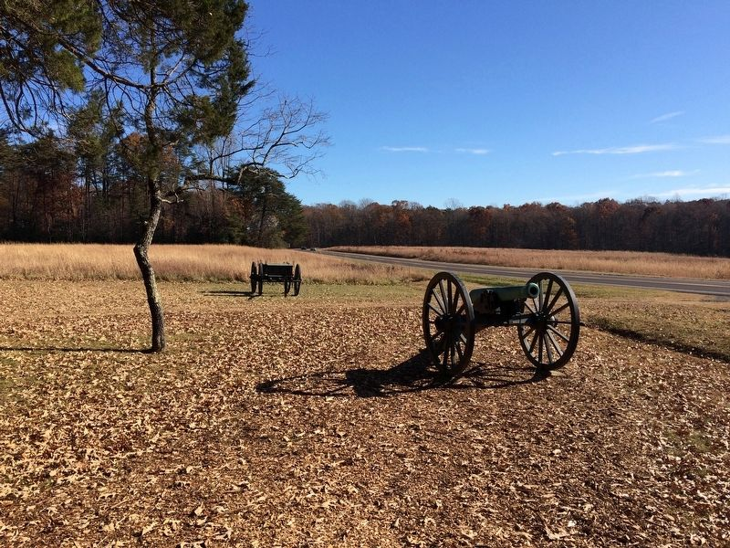 Artillery Piece near The Battle of the Wilderness Marker image. Click for full size.