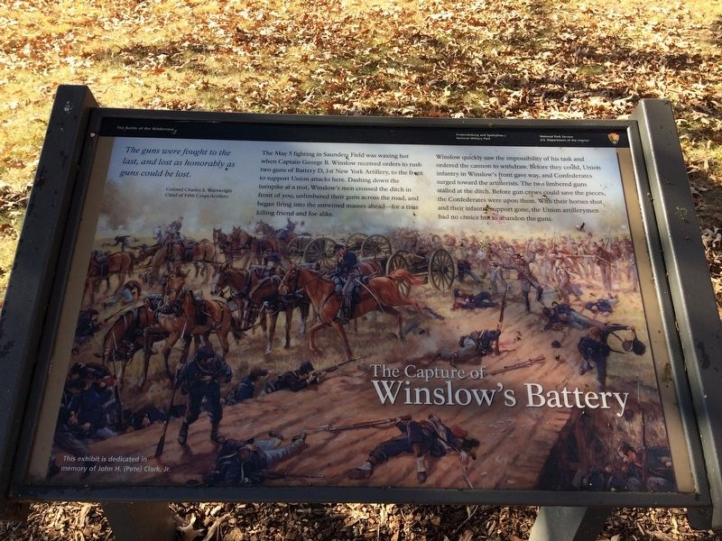 The Capture of Winslow's Battery Marker image. Click for full size.