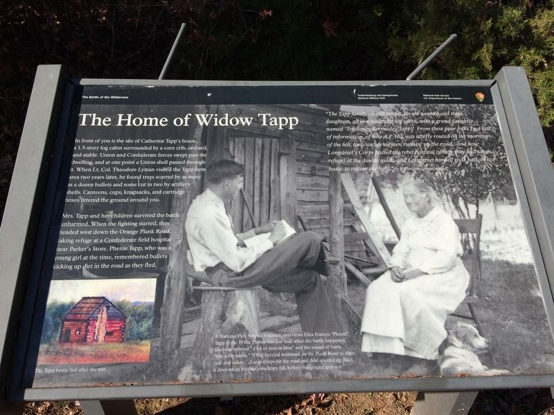 The Home of Widow Tapp Marker image. Click for full size.