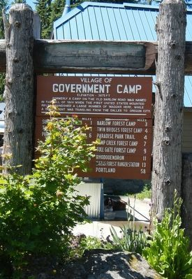 Government Camp Marker image. Click for full size.