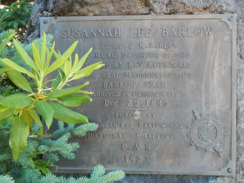 Susannah Lee Barlow Marker image. Click for full size.