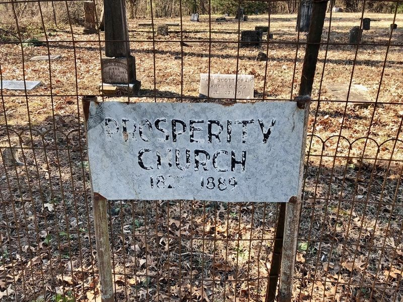 A much older sign for the former Prosperity Church. image. Click for full size.