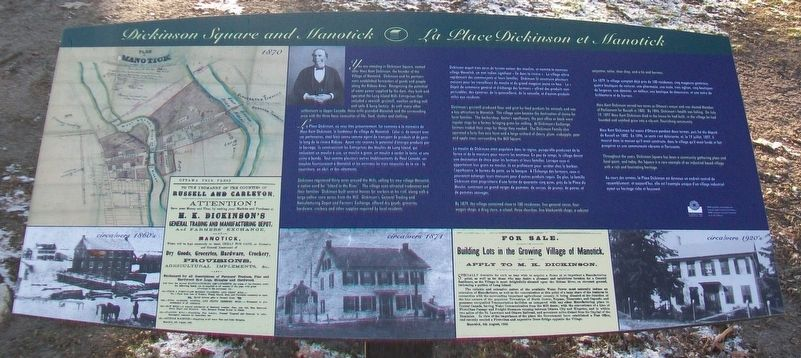 Dickinson Square and Manotick / La Place Dickinson et Manotick Marker image. Click for full size.
