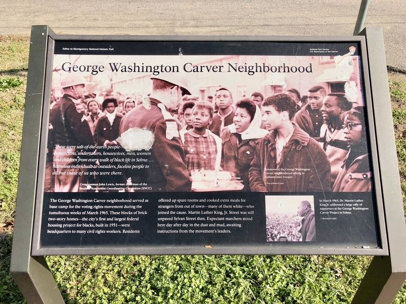 George Washington Carver Neighborhood Marker image. Click for full size.