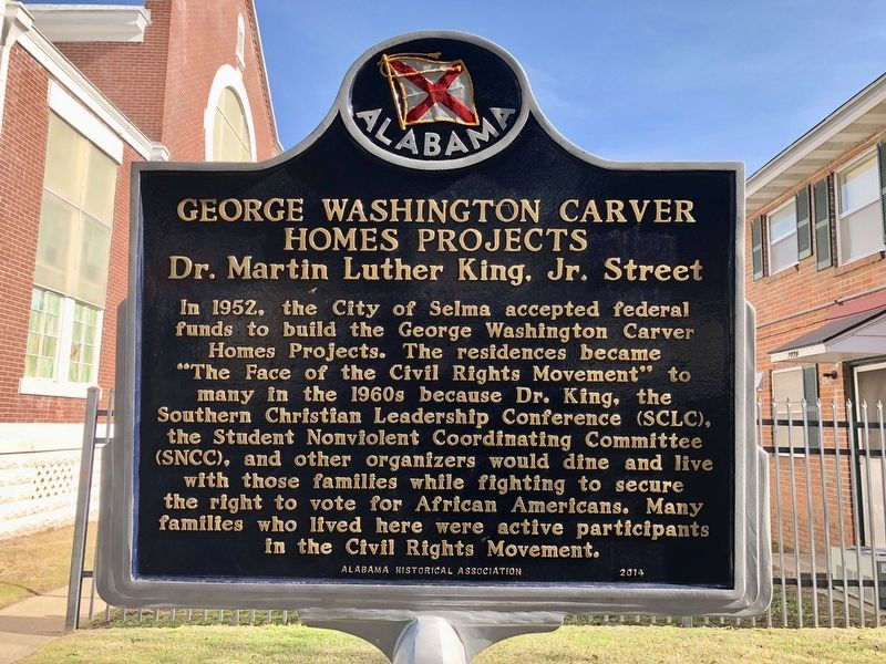 Another, nearby, marker about the George Washington Carver Projects. image. Click for full size.
