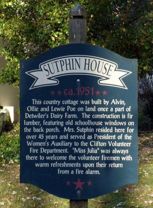 Sutphin House Marker image. Click for full size.
