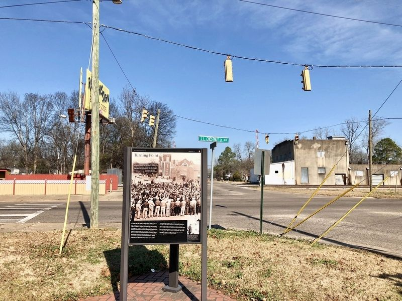 Turning Point Marker at Chestnut Boulevard and Martin Luther King Street intersection. image. Click for full size.