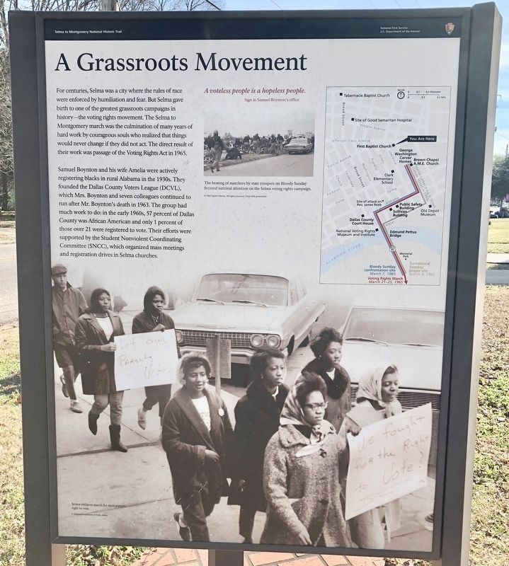 A Grassroots Movement Marker image. Click for full size.