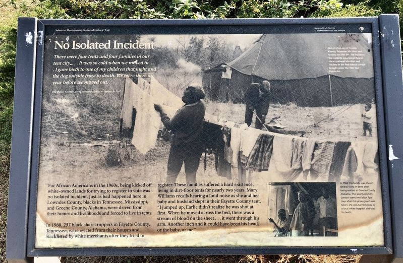 No Isolated Incident Marker image. Click for full size.