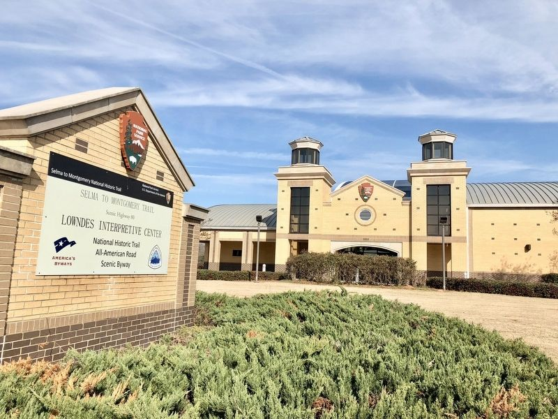 The National Park Service Lowndes Interpretive Center. image. Click for full size.