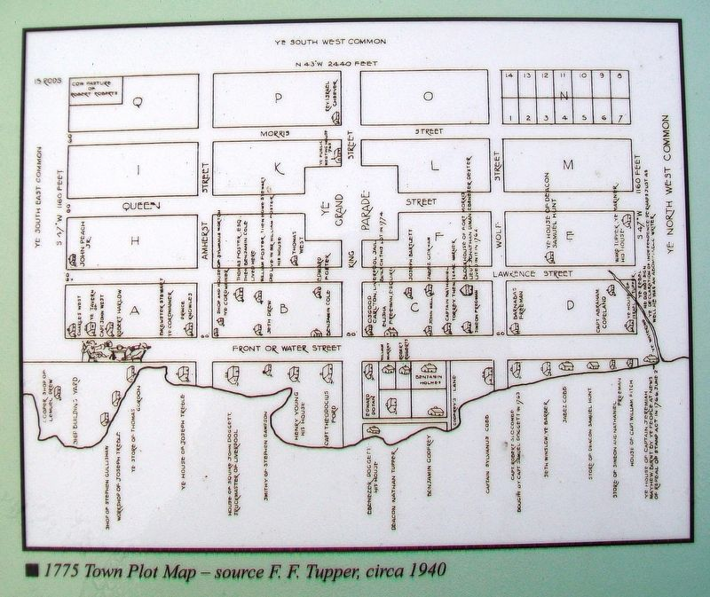 1775 Town Map on Step Back in Time / The Final Resting Place Marker image. Click for full size.