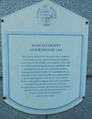 Wasco County Courthouse 1914 Marker image. Click for full size.