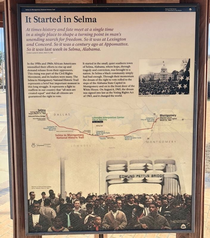 It Started in Selma Marker image. Click for full size.
