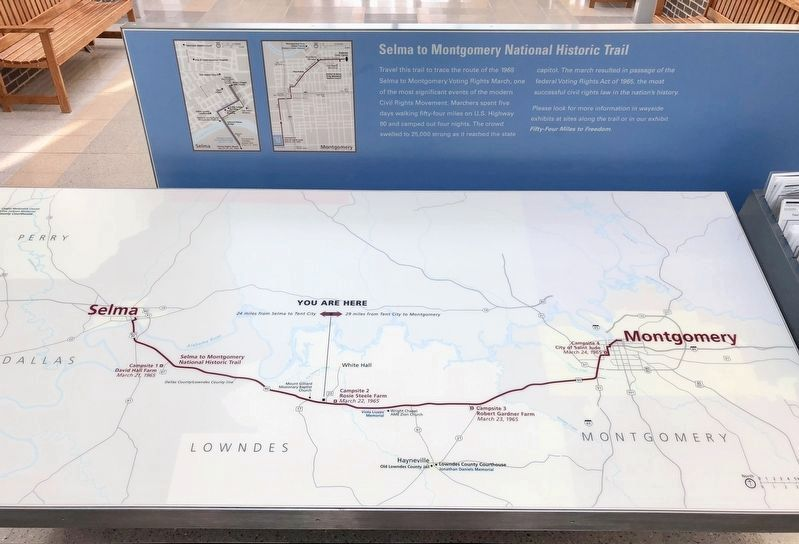Map of the Selma to Montgomery March trail. image. Click for full size.