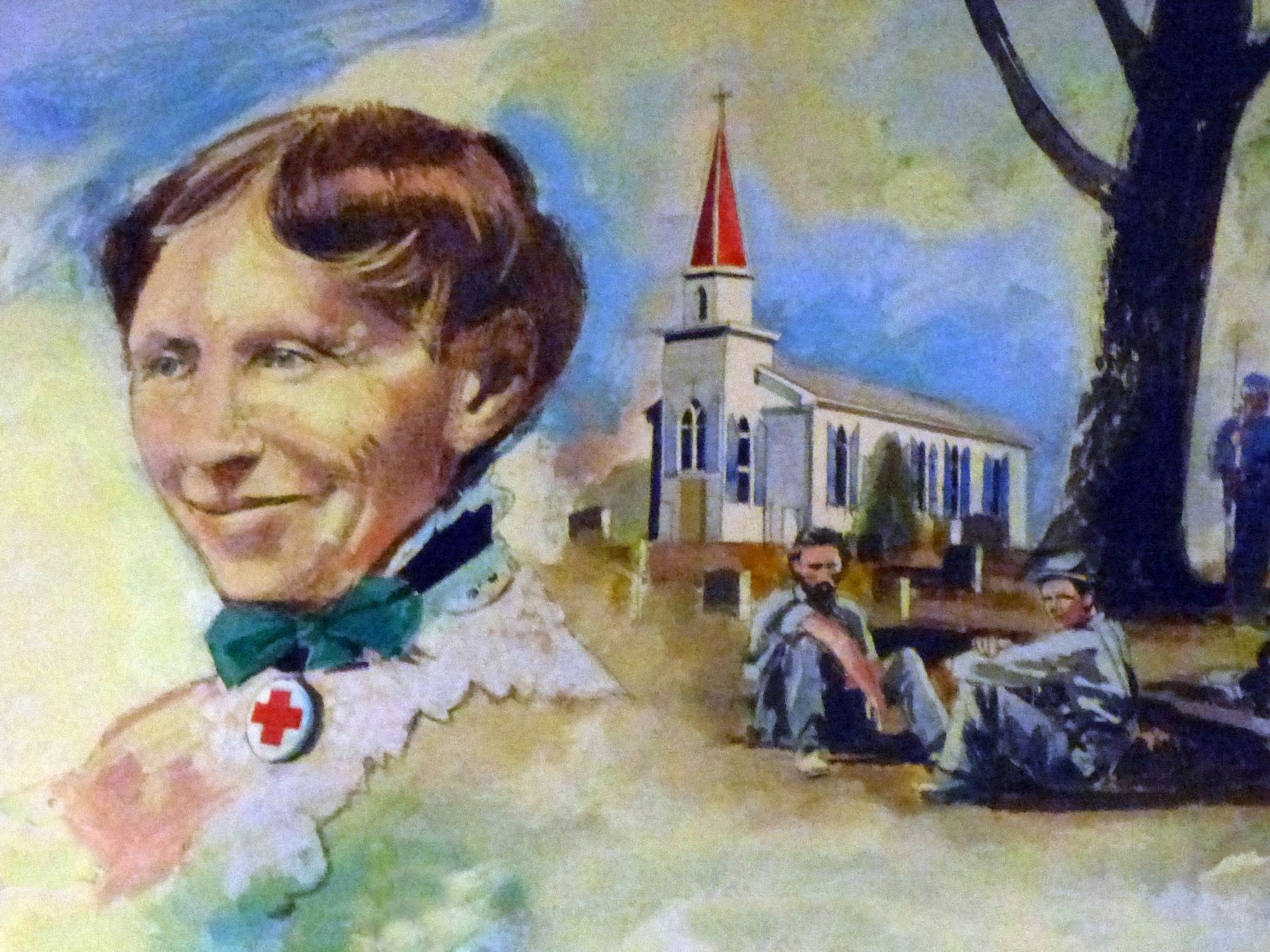 Clara Barton at St. Mary's Church image. Click for full size.