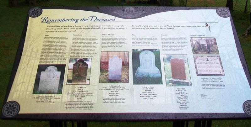 Remembering the Deceased Marker image. Click for full size.