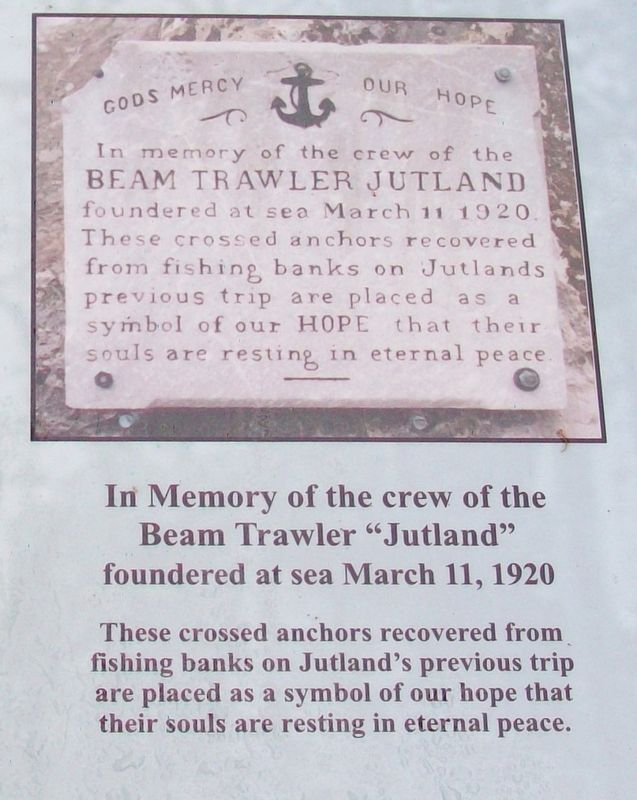 Beam Trawler Jutland Memorial Marker image, Touch for more information