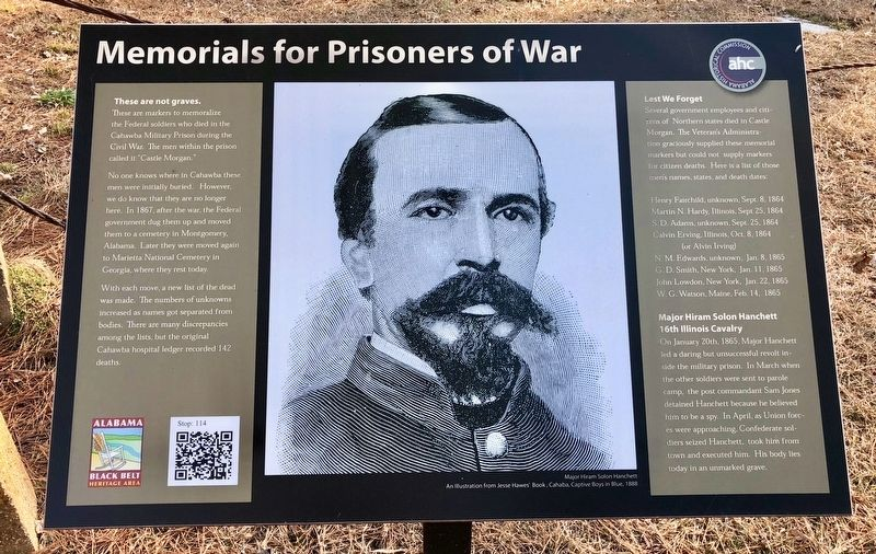 Memorials for Prisoners of War Marker image. Click for full size.