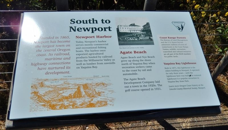 South to Newport Marker image. Click for full size.