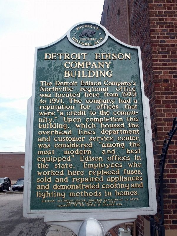 Detroit Edison Company Building Marker image. Click for full size.