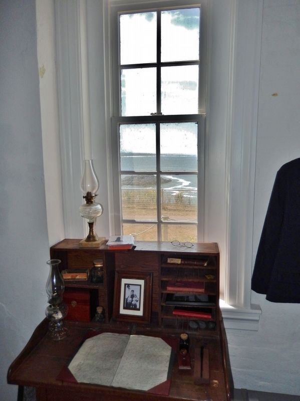 Lighthouse interior: Keeper's Desk & Window image. Click for full size.