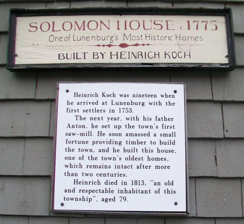 Koch-Solomon House Markers image. Click for full size.