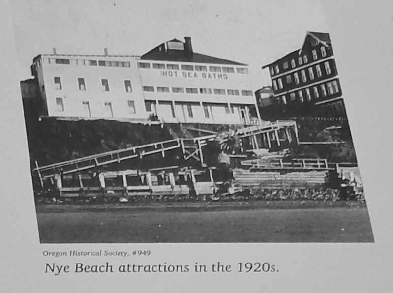 Marker detail: Nye Beach attractions in the 1920's image. Click for full size.