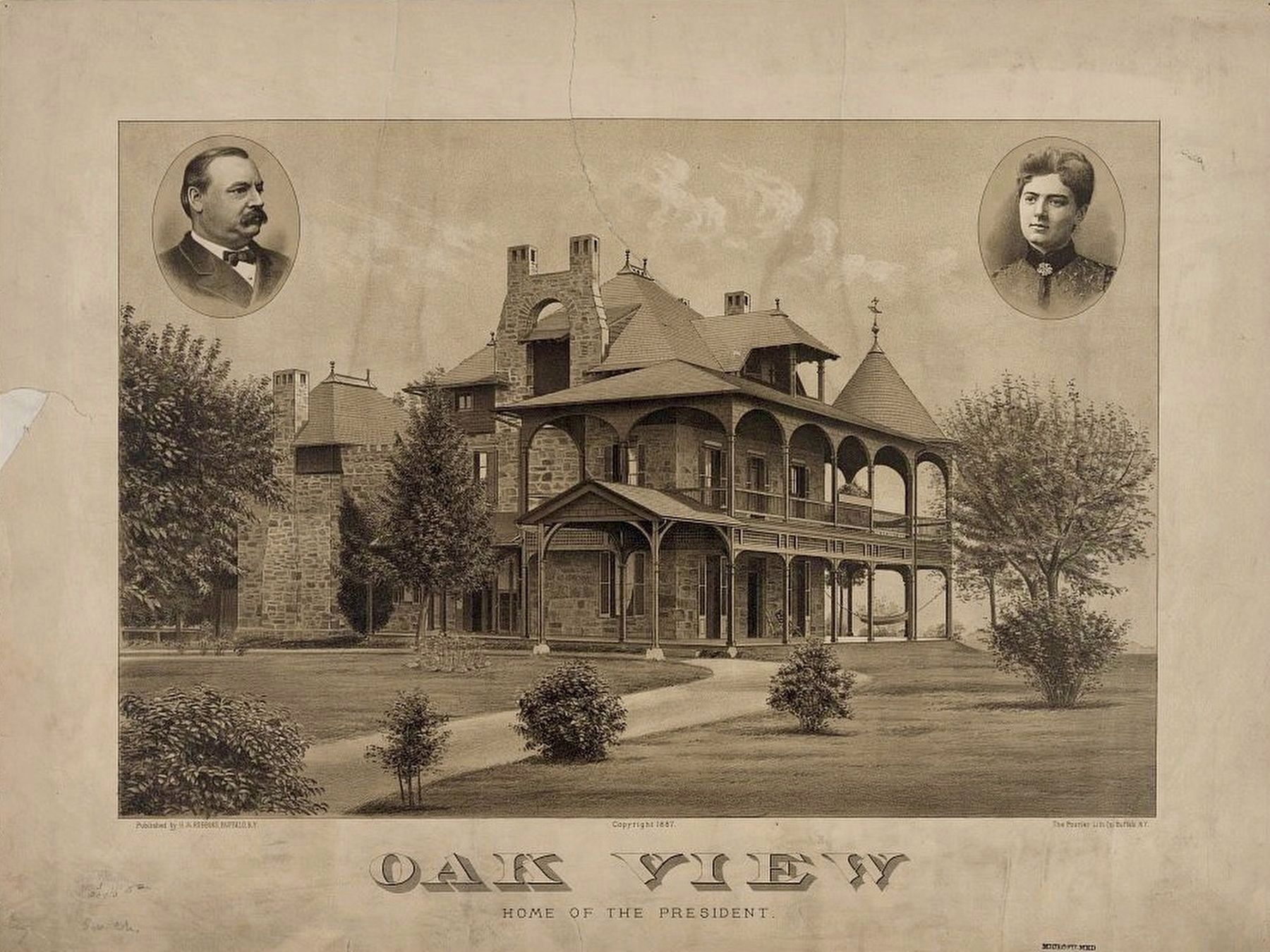 <i>Oak View, home of the President</i> image. Click for full size.